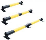 Butée PARKSTOP en acier - Diamètre : 75 mm - Hauteur : 110 mm - Coloris : Noir/jaune