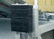 Butoir de quai mobile lamelles caoutchouc - Dimensions (a x b x c) : 600 x 250 x 120 mm