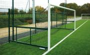 Buts de foot repliables en acier - Dimensions (m) : 6 x 2.1 - Conforme à la norme NF EN 748