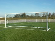 Buts football à 11 transportables - Dimension : 7.35 m x 2.44 m - Matière : Aluminium