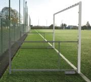 Buts football à 7 repliables - Dimension réglable : 2.10 à 3.10 m x 6 m - Matière : Acier