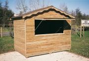 Buvette en bois - Dimensions (l x P) : 2 x 3 m - Épaisseur bois : 15 mm