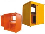Cabane à plan pour chantier - Dimensions (L x l x H) mm : 2010 x 1560 x 2290