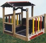 Cabane bois enfants - Dimensions : encombrement hors tout : 1480 x 1500 mm