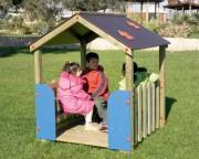 Cabane d'extérieur pour enfants - Dimensions (L x P x H) cm : 130 x 130 x 155