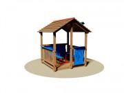 Cabane de jardin pour enfants - Dimensions (L x P x H) cm : 170 x 180 x 200
