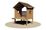 Cabane en bois pour enfants - Dimensions (L x P x H) : 165 x 175 x 206 cm