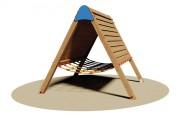 Cabane indienne en bois - Dimensions (L x P x H): 198 x 202 x 175 cm