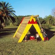 Cabane indienne en bois pour enfants - Dimensions (L x P x H): 205 x 300 x 185 cm
