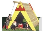 Cabane indienne pour enfants - Dimensions (L x l x H) mm : 2050 x 3000 x 1850