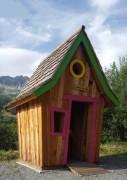 Cabane pour enfant en bois - Dimension : 150 x 150 x 200 cm - En rondin