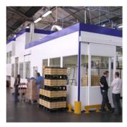 Cabine atelier modulaire - Plafond : Portée jusqu'à 9 m - Structure multitubulaire