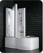 Cabine baignoire douche à 6 pieds réglables