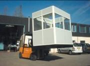 Cabine d'atelier accolable - Ossature aluminium anodisé hauteur 2,46 m