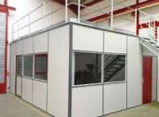 Cabine d'atelier métallique - Dimensions (mm) : 2100 x 2100 ou 3100 x 2100