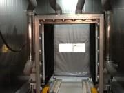 Cabine de dépoussiérage de palette - Palette dépoussiérée grâce à une action rotante