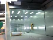 Cabine de métallisation fermée - Filtration par filtres à cartouches à décolmatage automatique
