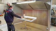 Cabine de peinture 3m x 1,80m - Cabine de peinture ouverte livrée en kit