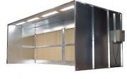 Cabine de peinture à filtre sec écologique - Puissance (kW) : 5.5 + 5.5 ou 7.5 + 7.5 - Largueur aspiration / hors-tout (en mm) : 6000 / 6100