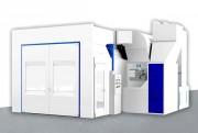 Cabine de peinture industrielle - Large gamme dimensionnelle - application/étuvage