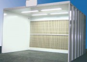 Cabine de peinture liquide - Ventilation horizontale - Version mixte