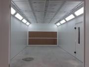 Cabine de peinture ouverte - Largeur 4 mètres avec éclairage
