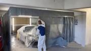 Cabine peinture rétractable démontable - Cabine pour peinture automobile et amorçage pièces