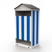 Cabine de plage - Dimensions (H x l x P) : 250 x 120 x 94 cm