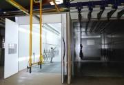 Cabine de poudrage sur-mesure - Ventilation : verticale ou horizontale