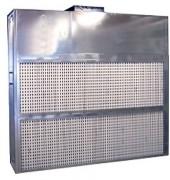 Cabine de pulvérisation à filtre sec - Puissance (KW) : 5.5 - 7,5 - Largueur aspiration / hors-tout (mm) : 3000 / 3100