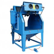 Cabine de sablage 1200 litres - Cyclone pour séparation des poussières et du sable