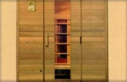 Cabine infrarouge en bois de cèdre rouge - Ref : JK 120 DLX