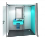Cabine sanitaire rénovation - Sur mesure : (Maximum à 2 mètres sur 2 mètres)