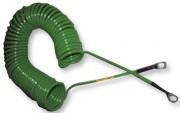 Câble de mise à la terre ATEX - Avec revêtement spécial anti-corrosion - Spiralisé ou droit