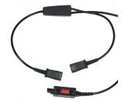 Câble Double écoute pour micro-casques Plantronics - Connexion en parallèle de 2 microcasques