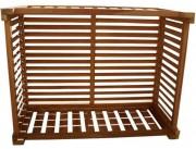 Cache climatiseur en bois exotique - 6 tailles : S - M - L - S+S - M+M - L+L