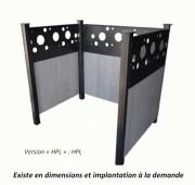 Cache conteneur acier - Construction mixte Acier/ HPL ou Acier/Bois