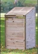 Cache conteneur en bois - Dimensions : l70cm x P85cm x H135cm