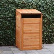 Cache conteneur en bois dur - Dimensions : l75cm x P75cm x H135cm