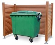 Cache conteneur en bois Hauteur 1600 mm - Composé de bardages et poteau – Conception modulaire
