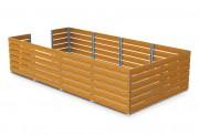 Cache conteneur en compact - Hauteur hors sol (mm) : 1350