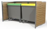 Cache- conteneur lames stratifié - Hauteur : 200 cm - Largeur : 130 mm - 250 kg
