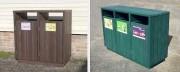 Cache conteneur plastique pour point de tri - 100% plastique recyclé - 2 ou 3 compartiments