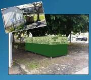 Cache conteneur poubelle Personnalisable - Dissimulation colonne à verre de 6000 L - Personnalisable