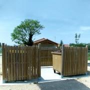 Cache conteneur poubelles en bois - Panneau : H 1400 x L 1000 mm