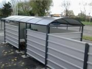 Cache conteneur sans toit - Dimensions (L x l x H) : 3 x 1.5, 2, 2.5, ou 3 x 2 m