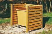 Cache conteneur simple bois - Dimensions (L x l x H) : 1.50 x 1.18 x 1.44