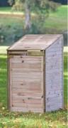 Cache conteneur simple en bois - Dimensions (cm) : l:70 cm x P:90 cm x H:115/148 cm