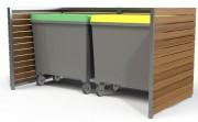 Cache- Conteneur structure acier - Hauteur : 200 cm - Largeur : 130 mm - 250 kg