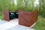 Cache conteneurs acier design - Structure en acier de 3 mm d'épaisseur